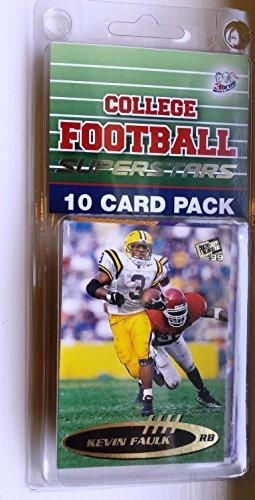 10 card pack college football lsu tigers different superstars starter kit