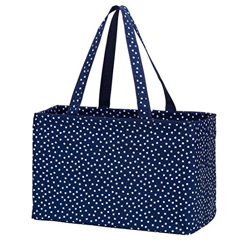 (Fashion Print Ultimate Tote Bag (Navy Polka Dot))