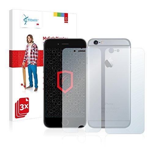 3x Vikuiti Pellicola Protettiva DQCT130 da 3M per Apple iPhone 6 (Anteriore + Posteriore)