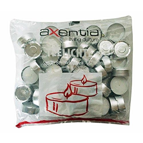 200 Stück Teelichter Teekerze Teelichte 4h Brenndauer weiß von Axentia