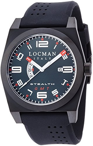 LOCMAN watch stealth classic GMT Quartz Men's 0200 0200BKBKFRD1GOK Men's [regular imported goods]
