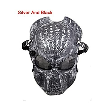 Tactical Airsoft Paintball Alien Vs Predator máscara protectora Halloween disfraces Cosplay CS mascarilla facial 8 colores