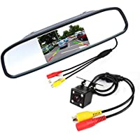 CAR PARKING CAMERA 4LED NIGHT VISION AND LCD MIRROR MONITOR
