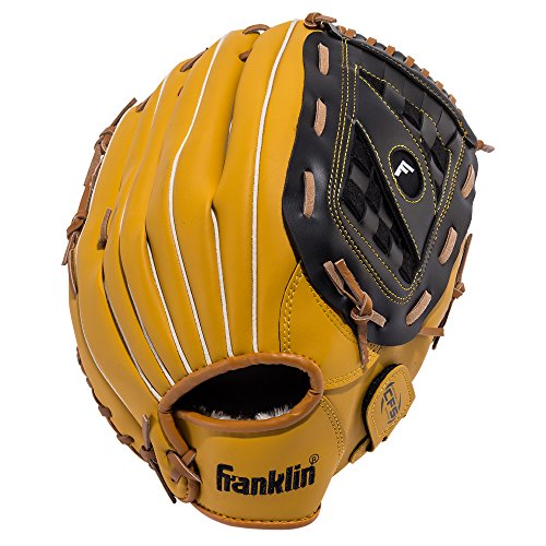 Franklin Sports Baseball Glove - Left and Right Handed Baseball and Softball Fielding Glove - Synthetic Leather Field Master Baseball Glove - 14 Inch Right Hand Throw
