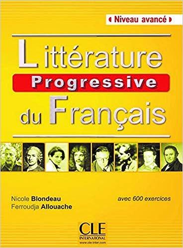 Litterature Progressive Du Francais Niveau Avance Livre