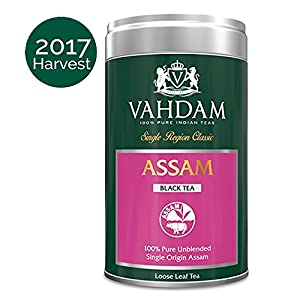 Exotic Black Tea Leaves from Assam, India (50 Cups) - Rich, Flavoury And Malty, 100% Pure Unblended Single Region Assam Tea, Grown & Packed in India, 3.53oz