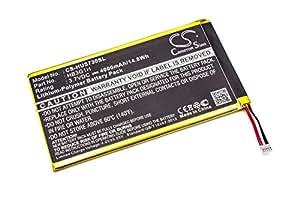 """Batería Polímero de Litio 4000mAh (3,7V) compatible con Huawei MediaPad, z.B. MediaPad 7 Lite, S7-301U, T-Mobile Springboard"""". sustituye: HB3G1H."""