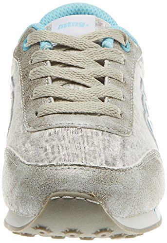 MTNG Jogger, Zapatillas de Deporte Para Niños Plateado (Yiru Plataleopa Plataglitter Nacar Azul Claro)