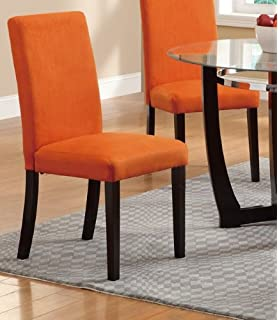 Dining Chair In Tangerine Finish By Poundex (Set Of 2)