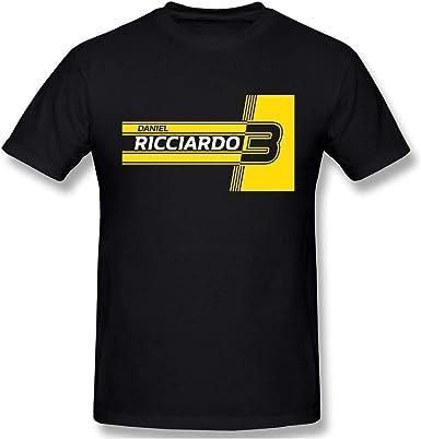 SOTTK Camisetas y Tops Hombre Polos y Camisas, Daniel Ricciardo 2019 F1 Classic T-Shirt Cotton Shirt Black: Amazon.es: Ropa y accesorios