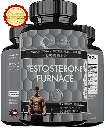 * MUSCLE PHASE ULTRA TESTOSTERONE FURNACE * Build Hard Lean Muscle Mass (Performance Stack)