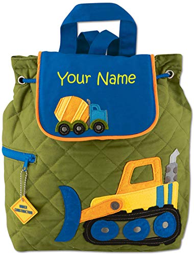 Personalized Stephen Joseph Construction Quilted Backpack with Embroidered Name