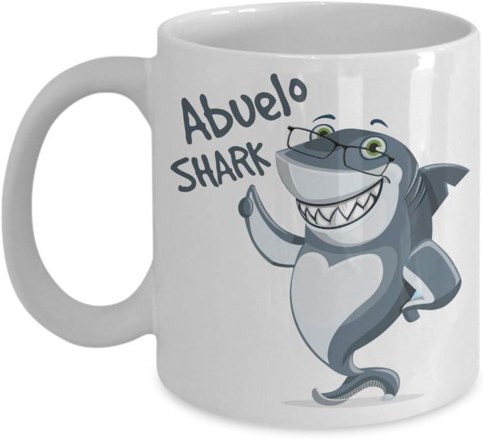 Amazon Com Abuelo Shark Mug Grandfather In Spanish Birthday Baby Reveal For Fathers Dad Husband Grandpa 11oz Coffee Mug Kitchen Dining