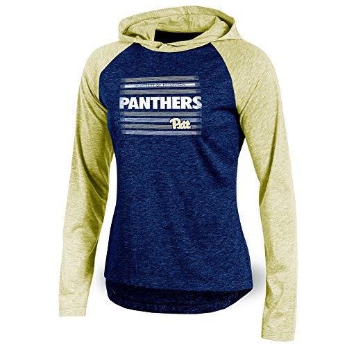 NCAA Pittsburgh Panthers Adult Women Long sleeve Pullover Colo, Medium, Navy Heather
