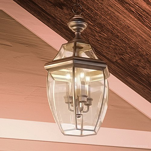 Large Colonial Outdoor Lighting (Luxury Colonial Outdoor Pendant Light, Large Size: 21