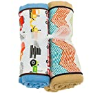 Baby Jar Cotton Newborn Baby Burp Cloth - Set of 2 (Big Wheels)