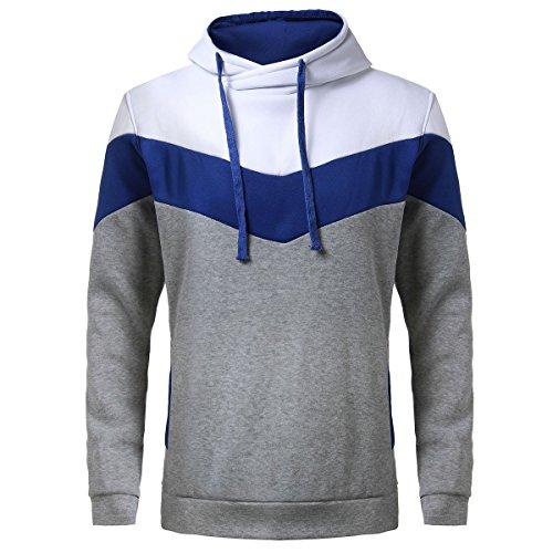 Keybur Mens Novelty sweatshirts Pullover Sport Hoodies (M, Light Grey)