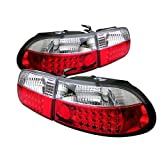 94 honda civic clear taillights - Spyder Auto ALT-YD-HC92-3D-LED-RC Honda Civic 3-Door Red/Clear LED Tail Light