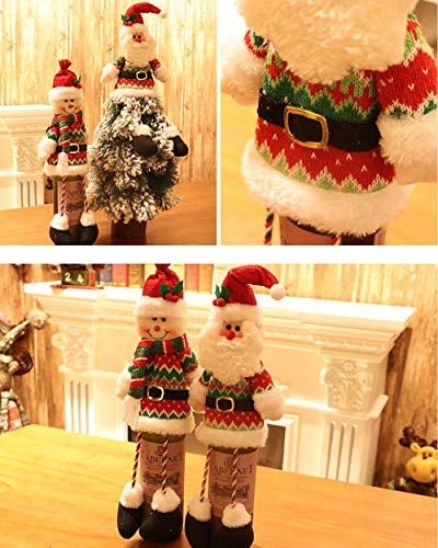 CHICHIC Christmas Wine Bottle Cover Bag, Handmade Wine Bottle Sweater, Knitted Wine Sweaters, Ugly Sweater Covers, for Christmas Decorations Party Decorations Table Wine Decor Gift Tag, Set of 2
