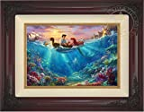 Thomas Kinkade -The Little Mermaid Falling in Love 12'' x 18'' Standard Number (S/N) Limited Edition Canvas (Brandy Frame)