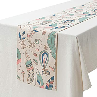 KEY SPRING Tribal Table Runners (72 X12 Inch) for Wedding Table Decor, Bridal Shower, Birthday Party, Housewarming Gift, Dining Room, Cotton & Linen -  - table-runners, kitchen-dining-room-table-linens, kitchen-dining-room - 51LglWOhOvL. SS400  -