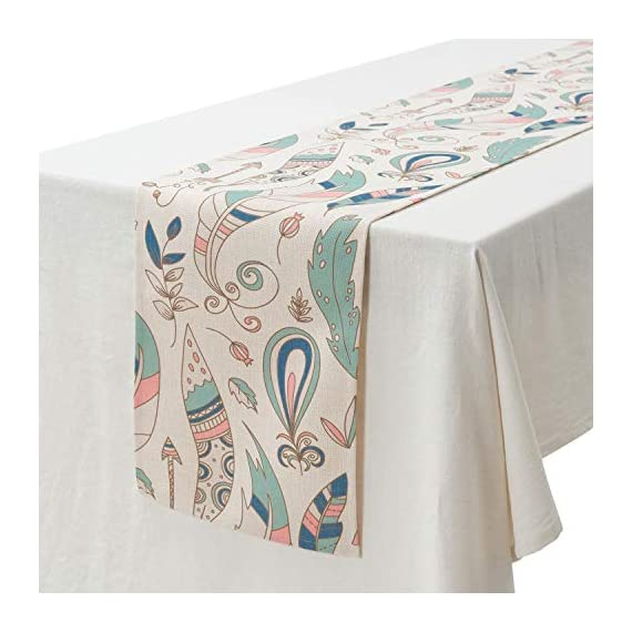 """KEY SPRING Tribal Table Runners (72 X12 Inch) for Wedding Table Decor, Bridal Shower, Birthday Party, Housewarming Gift… - Material: Cotton & Linen Size: 12"""" X 72"""" (30cm X 180cm) Technology:High Temperature Digital Printing - table-runners, kitchen-dining-room-table-linens, kitchen-dining-room - 51LglWOhOvL. SS570  -"""