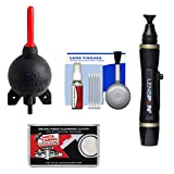Giottos Rocket-Air Blower Professional AA1920 + Lenspen Lens Pen Cleaning System + Accessory Kit for Canon, Nikon, Olympus, Pentax and Sony Digital SLR Cameras