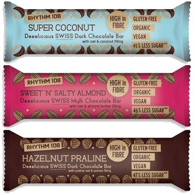 Rhythm 108 Dairy Free Chocolate Bars Gluten Free Lactose Free Organic Vegan Chocolate Variety Pack For Guilt Free Wholesome Indulgence 9 Pack