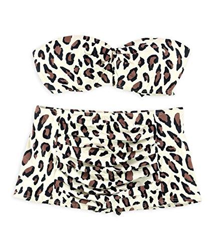 - DKNY Womens Animal Print Skirt 2 Piece Bandeau, Off-White, Medium