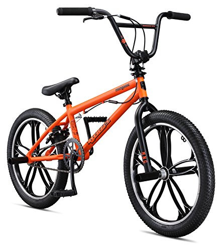 Mongoose Legion Mag Freestyle BMX Bike, 20-Inch Wheels, Orange - Freestyle Bike Bicycle