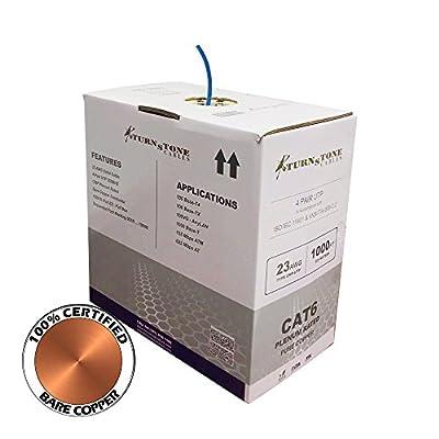 CAT6 Plenum Cable 100% Bare Copper 1000ft Bulk Ethernet Network Wire