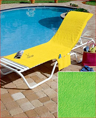Cool Amazon Com Terrycloth Pool Chaise Lounge Lime Green Chair Pabps2019 Chair Design Images Pabps2019Com