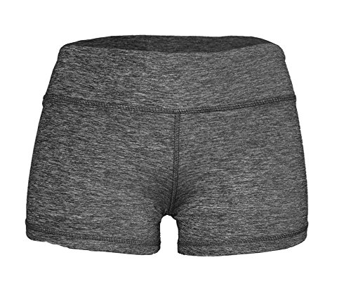 Epic MMA Gear Spandex Yoga Booty Shorts (M/8, Black Heather)