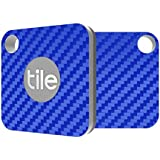 Tile Mate Compatible - Blue Carbon Fiber Premium Skin Decal by Aretty (2 - Pack)
