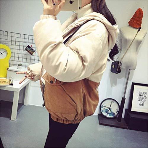 Sciolto Jacket Caldo Abbigliamento Stampato Lunga Invernali Donna Outwear Cappotto Addensare Fidanzato Libero Outdoor Stile Giacca Tempo Incappucciato Manica Moda Eleganti Khaki wxOfIAqfU
