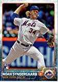 2015 Topps Update #US157 Noah Syndergaard Baseball Rookie Card in Protective Display Case