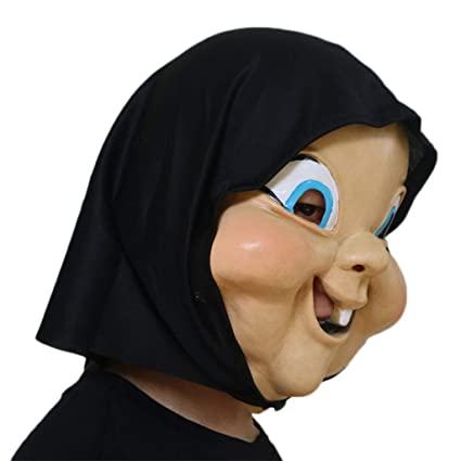 Halloween Máscara Máscaras de látex para la Cabeza, Feliz Demonio del día de la Muerte