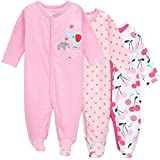 3-Pack Baby Girl and Toddler Girl Long Sleeve