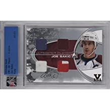 Joe Sakic Manufacturer ENCASED Buy Back #1/1 (Hockey Card) 2008-09 In the Game Ultimate Memorabilia 9th Edition - Ultimate Player 4 Piece - Silver 14-15 ITG Ultimate Vault Ruby #JOSA