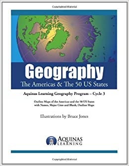 Geography The Americas The 50 US States Outline Maps of the