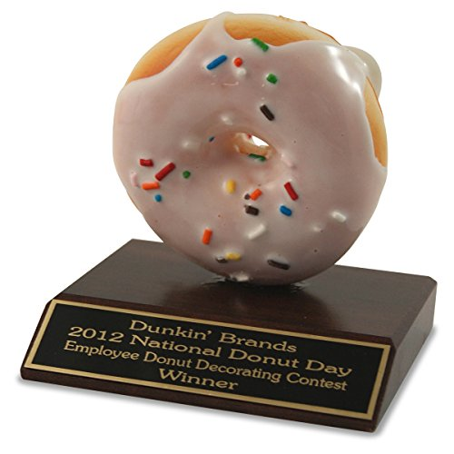 Far Out Awards Sprinkle Donut Trophy - Doughnut Trophy, Police Trophy, Funny Police Awards, Cop Recognition Award, Homer Simpson Donut Trophy, Donut Eating Contest Trophy, Donut Lover Gift]()