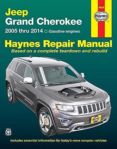 jeep grand cherokee 2005 thru 2014 gasoline engines haynes repair rh amazon com 2014 Jeep Compass Manual 2007 Jeep Compass Repair Manual