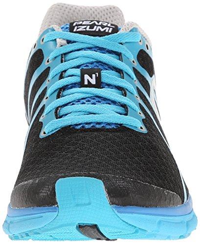 Perle Izumi Mens Route N1 V2 Chaussure De Course Noir / Bleu Atoll