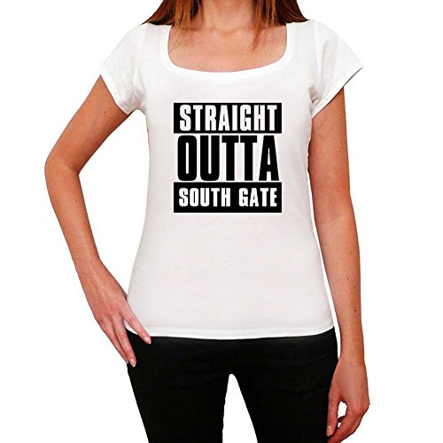 Straight Outta South Gate, women's tshirts, city tshirts for women, gift tshirts (South Gate City)