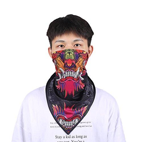 Bandanas for Men- Not Fade Moisture Wicking Printed Fashion Cowboy Towel Headscarf 25x25