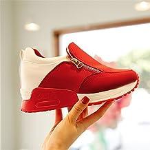 Baqijian Spring Women Causal Flats Platform Shoes PU Leather Zipper Creepers Walking Shoes Ladies Shoes Tenis Femininos
