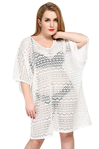 Women Summer Crochet Beachwear White - 2