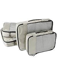 AmazonBasics Bolsas organizadoras de equipaje, 4 unidades (2 medianas y 2 grandes)