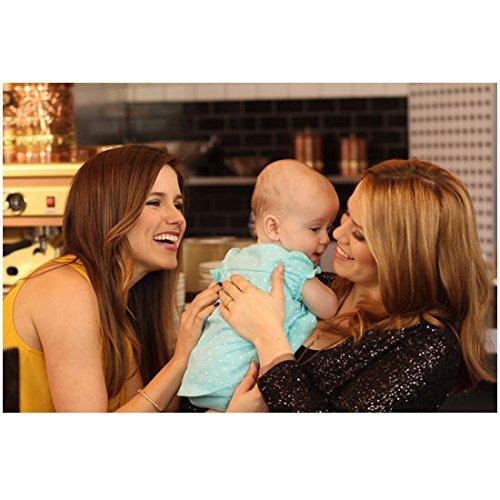 One Tree Hill Sophia Bush as Brooke and Hilarie Burton as Peyton gushing over baby 8 x 10 Inch - Bush Gossip Sophia