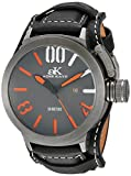 Oniss Paris Women's Quartz Stainless Steel and Leather Dress Watch, Color:Brown (Model: ON8776-LRGWT)